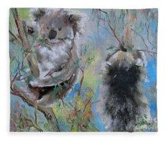 Koalas Fleece Blanket