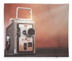 Kodak Brownie 8mm Fleece Blanket