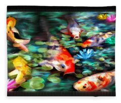 Koi Paradise Fleece Blanket