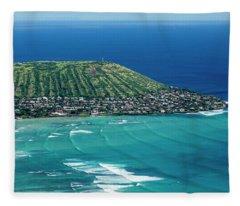 Koko Head Surf Fleece Blanket