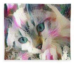 Koko The Siamese Kitten Fleece Blanket