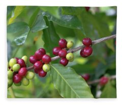 Kona Coffee Cherries Fleece Blanket