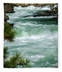Kootenai River Fleece Blanket
