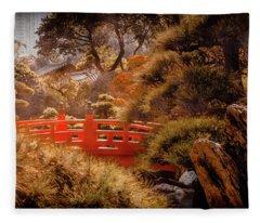 Kowloon - Red Bridge Fleece Blanket