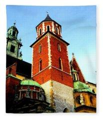 Krakow Poland Fleece Blanket