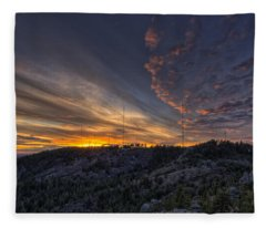 Krell Hill Sunset Fleece Blanket