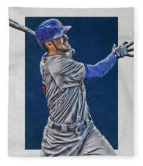 Kris Bryant Chicago Cubs Art 3 Fleece Blanket