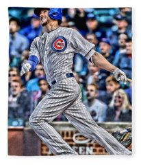 Kris Bryant Chicago Cubs Fleece Blanket