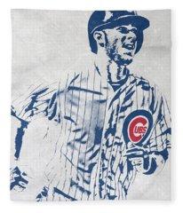 kris bryant CHICAGO CUBS PIXEL ART 2 Fleece Blanket