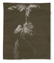 Kroki 1997, Pre.3 Vit Krita, Figure Drawing White Chalk Fleece Blanket
