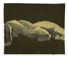 Kroki 2014 09 27_3figure Drawing White Chalk  Fleece Blanket