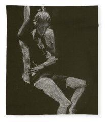 Kroki 2014 10 04_12 Figure Drawing White Chalk Fleece Blanket