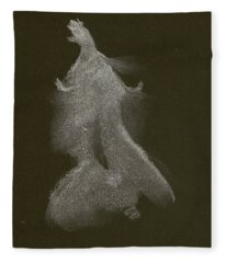 Kroki 2014 10 04_16 Figure Drawing White Chalk Fleece Blanket