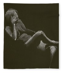 Kroki 2014 12 27_3 Figure Drawing White Chalk Fleece Blanket