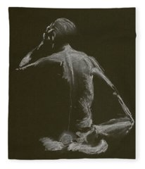 Kroki 2015 01 10_14 Figure Drawing White Chalk Fleece Blanket