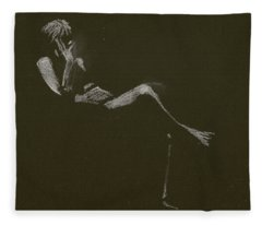 Kroki 2015 01 10_5 Figure Drawing White Chalk Fleece Blanket