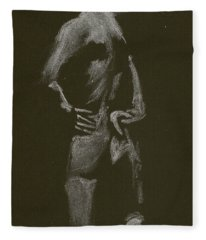 Kroki 2015 01 10_7 Figure Drawing White Chalk Fleece Blanket