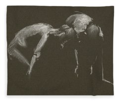 Kroki 2015 04 25 _1 Figure Drawing White Chalk Fleece Blanket