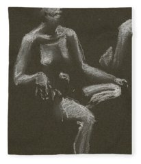 Kroki 2015 04 25 _3 Figure Drawing White Chalk Beskuren Fleece Blanket