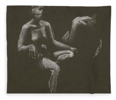 Kroki 2015 04 25 _3 Figure Drawing White Chalk Fleece Blanket