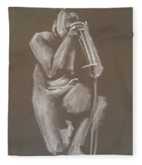 Kroki 2015 06 18_4 Figure Drawing Chinese Sword White Chalk Fleece Blanket