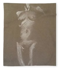 Kroki 2015 06 18_6 Figure Drawing White Chalk Fleece Blanket