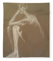 Kroki 2015 06 18_9 Figure Drawing White Chalk Fleece Blanket
