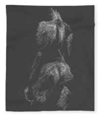 Kroki 2015 09 26 _3 Figure Drawing White Chalk Fleece Blanket