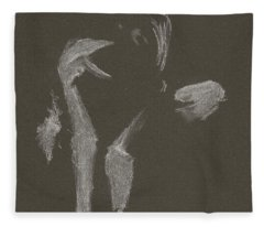 Kroki 2015 10 03_10 Figure Drawing White Chalk Fleece Blanket