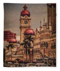 Kuala Lumpur, Malaysia - Red Onion Domes Fleece Blanket