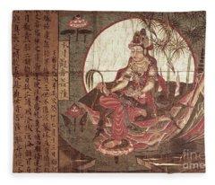 Kuanyin Goddess Of Compassion Fleece Blanket