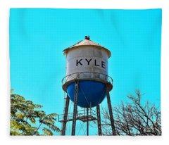 Kyle Texas Water Tower Fleece Blanket