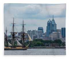 L Hermione Philadelphia Skyline Fleece Blanket