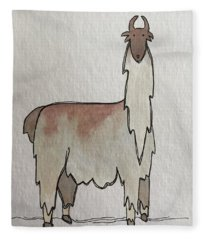 L Is For Llama Fleece Blanket