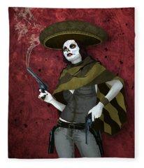 La Bandida Muerta Fleece Blanket