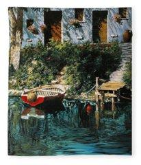 La Barca Al Molo Fleece Blanket