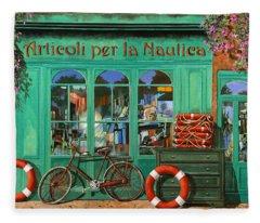 La Bicicletta Rossa Fleece Blanket