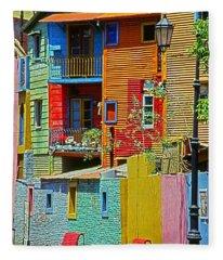 La Boca - Buenos Aires Fleece Blanket