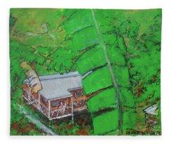 La Casa Grande Mountain Retreat Utuado Puerto Rico Fleece Blanket
