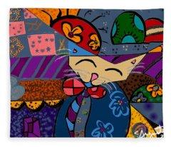 La Cat Fleece Blanket