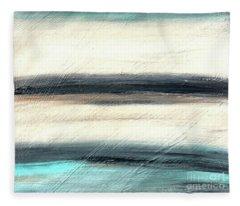 La Jolla #1 Seascape Landscape Original Fine Art Acrylic On Canvas Fleece Blanket