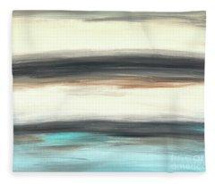 La Jolla #2 Seascape Landscape Original Fine Art Acrylic On Canvas Fleece Blanket