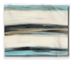 La Jolla #3 Seascape Landscape Original Fine Art Acrylic On Canvas Fleece Blanket