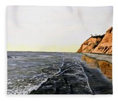 La Jolla Shoreline Fleece Blanket