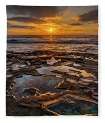 La Jolla Tidepools Fleece Blanket