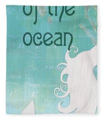 La Mer Mermaid 1 Fleece Blanket