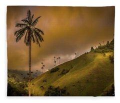 La Palma Del Cocora Fleece Blanket