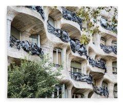La Pedrera Casa Mila Gaudi  Fleece Blanket