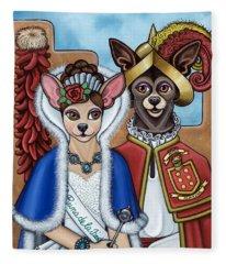 La Reina Y Devargas Fleece Blanket
