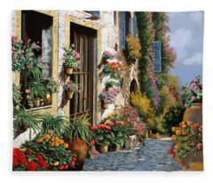 La Strada Del Lago Fleece Blanket